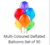 Multi Colors Baloons 50