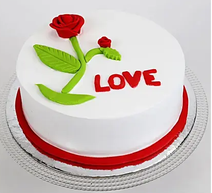 Red Rose Love Chocolate Cake