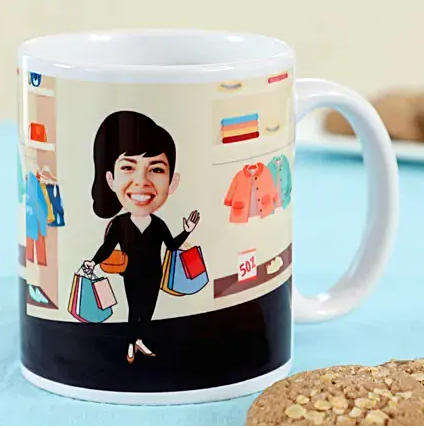 Caricature Personalised Office Mug